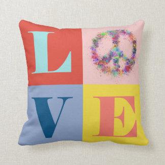 Estallido el | de la paz y del amor el | moderno cojín decorativo
