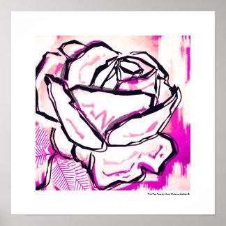 Estallido rosado subió - el día de San Valentín Póster