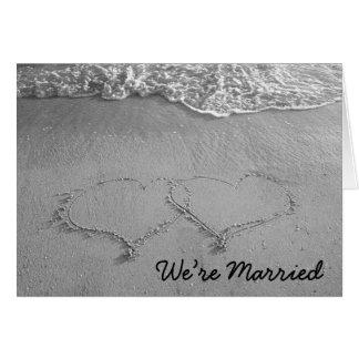 estamos casados (el espacio en blanco) felicitacion