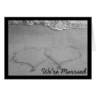estamos casados (el espacio en blanco) felicitaciones