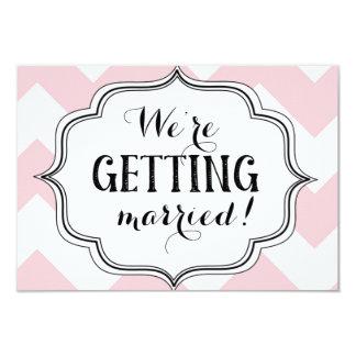 ¡Estamos consiguiendo casados! Invitación 8,9 X 12,7 Cm