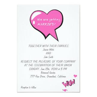 ¡Estamos consiguiendo casados! Invitación 12,7 X 17,8 Cm