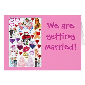 Estamos consiguiendo casados felicitaciones