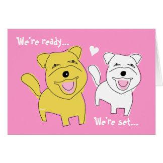 Estamos consiguiendo el perro casado de Westie de  Tarjeta Pequeña