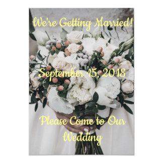Tarjeta Estamos consiguiendo la invitación casada