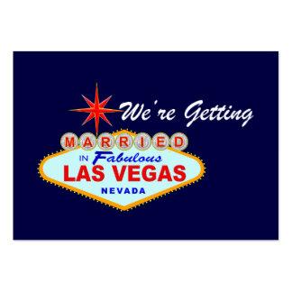 Estamos consiguiendo nos casamos en la tarjeta tarjetas de visita grandes