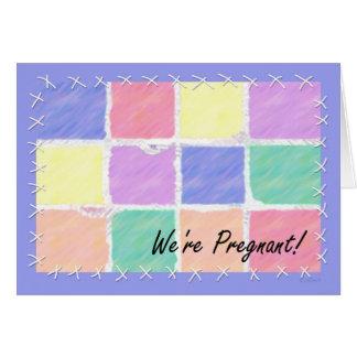 Estamos embarazadas tarjeta de felicitación