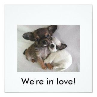 ¡Estamos en amor! Invitación 13,3 Cm X 13,3cm