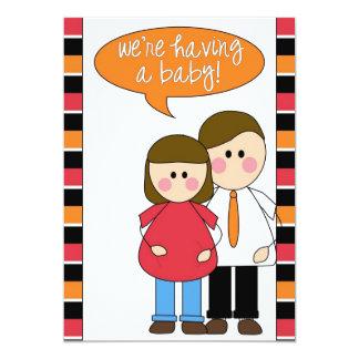estamos teniendo un bebé invitación 12,7 x 17,8 cm