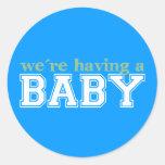 ¡Estamos teniendo un bebé! Pegatinas