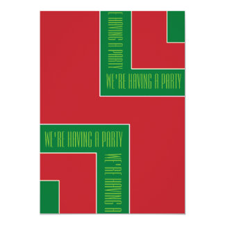 """""""Estamos teniendo una esquina del color rojo/verde Invitación 12,7 X 17,8 Cm"""