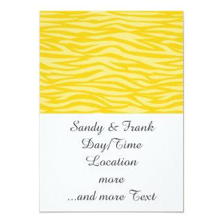 estampado de animales abstracto, amarillo invitacion personalizada