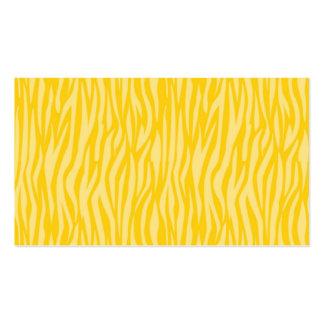estampado de animales abstracto, amarillo tarjetas personales