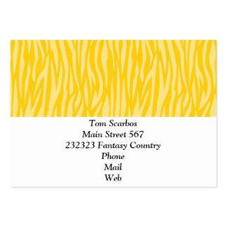 estampado de animales abstracto, amarillo plantilla de tarjeta de negocio