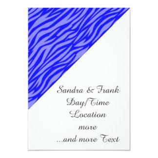 estampado de animales abstracto, azul invitación 12,7 x 17,8 cm