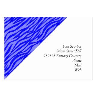 estampado de animales abstracto, azul tarjeta de visita