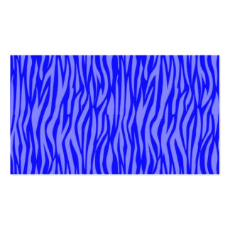 estampado de animales abstracto, azul plantillas de tarjetas de visita