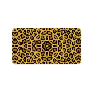 Estampado de animales abstracto del guepardo del etiqueta de dirección
