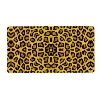 Estampado de animales abstracto del guepardo del etiqueta de envío