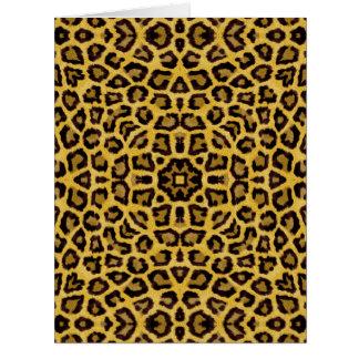 Estampado de animales abstracto del guepardo del tarjeton
