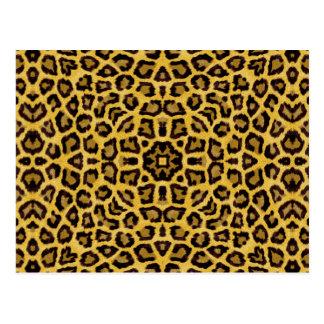 Estampado de animales abstracto del guepardo del tarjetas postales
