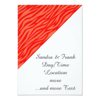 estampado de animales abstracto, rojo invitación 12,7 x 17,8 cm