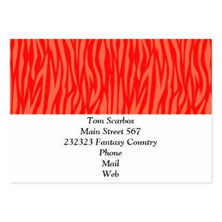 estampado de animales abstracto, rojo plantillas de tarjetas de visita