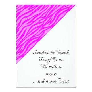 estampado de animales abstracto, rosado invitación 12,7 x 17,8 cm