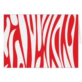 Estampado de animales abstracto tarjeta de felicitación
