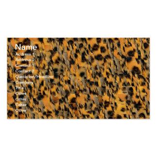 Estampado de animales abstracto tarjetas de visita