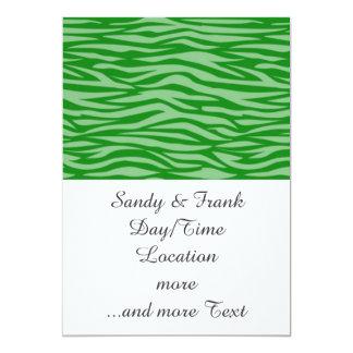 estampado de animales abstracto, verde invitación 12,7 x 17,8 cm