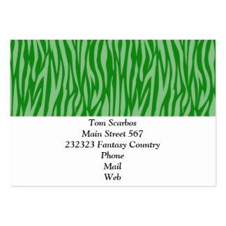 estampado de animales abstracto, verde tarjetas de visita