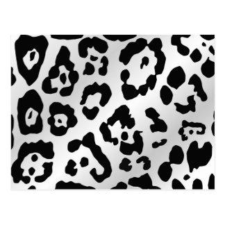 Estampado de animales blanco y negro postales