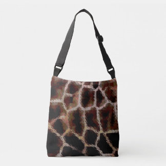 Estampado de animales Brown Bolso Cruzado