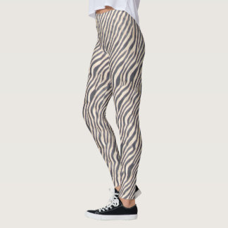 Estampado de animales - cebra - polainas leggings