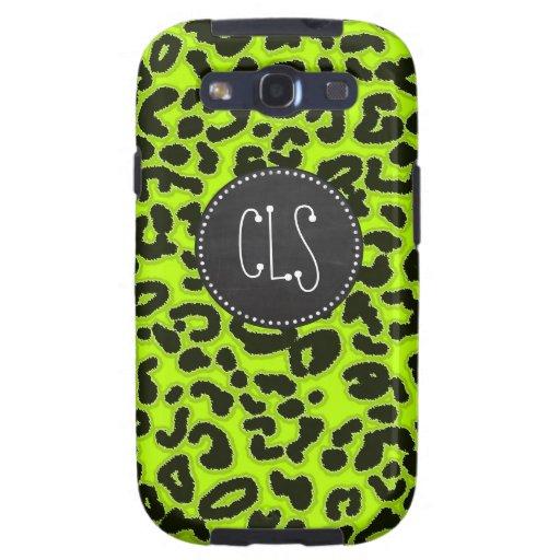 Estampado de animales chartreuse del leopardo; Mir Galaxy S3 Carcasa