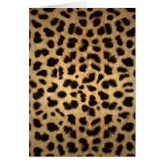 Estampado de animales de Jaguar Tarjeton