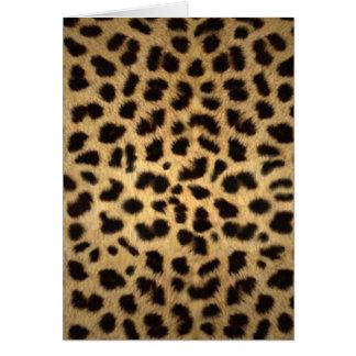 Estampado de animales de Jaguar Tarjeta De Felicitación
