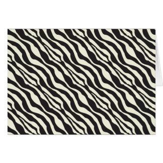Estampado de animales de la cebra blanco y negro tarjeta de felicitación