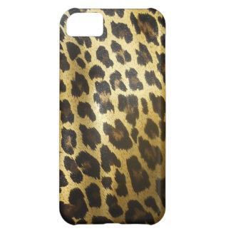 Estampado de animales de la piel del leopardo funda para iPhone 5C