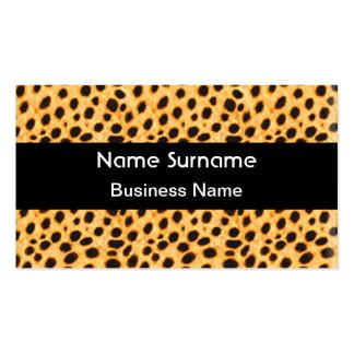 Estampado de animales del leopardo de la tarjeta tarjetas de visita