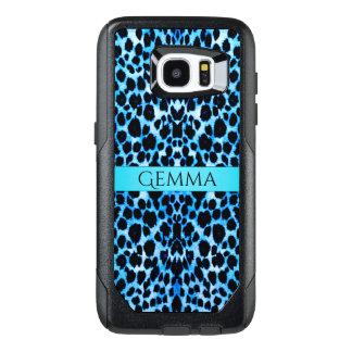 Estampado de animales del leopardo de las azules funda OtterBox para samsung galaxy s7 edge