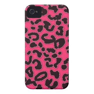 Estampado de animales del leopardo de las rosas fu iPhone 4 Case-Mate coberturas