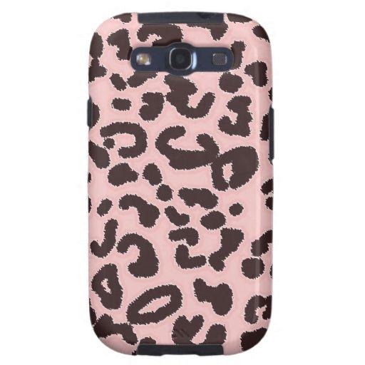 Estampado de animales del leopardo de los rosas be galaxy s3 cárcasas