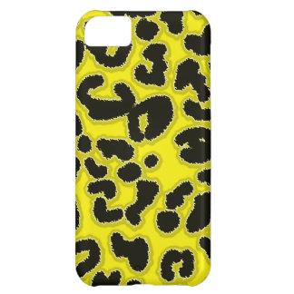 Estampado de animales del leopardo del amarillo de