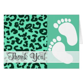 Estampado de animales del leopardo del Aquamarine Felicitación