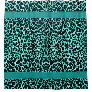 Estampado de animales del leopardo del verde azul
