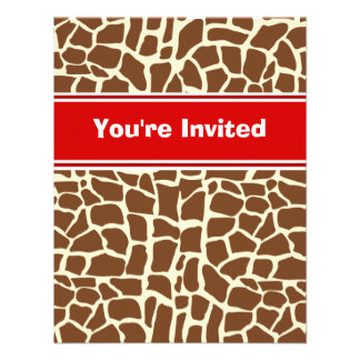 Estampado de animales del modelo de la jirafa anuncio personalizado