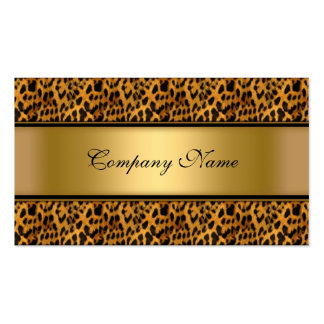 Estampado de animales elegante del leopardo del or tarjetas de visita