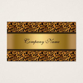 Estampado de animales elegante del leopardo del tarjeta de negocios